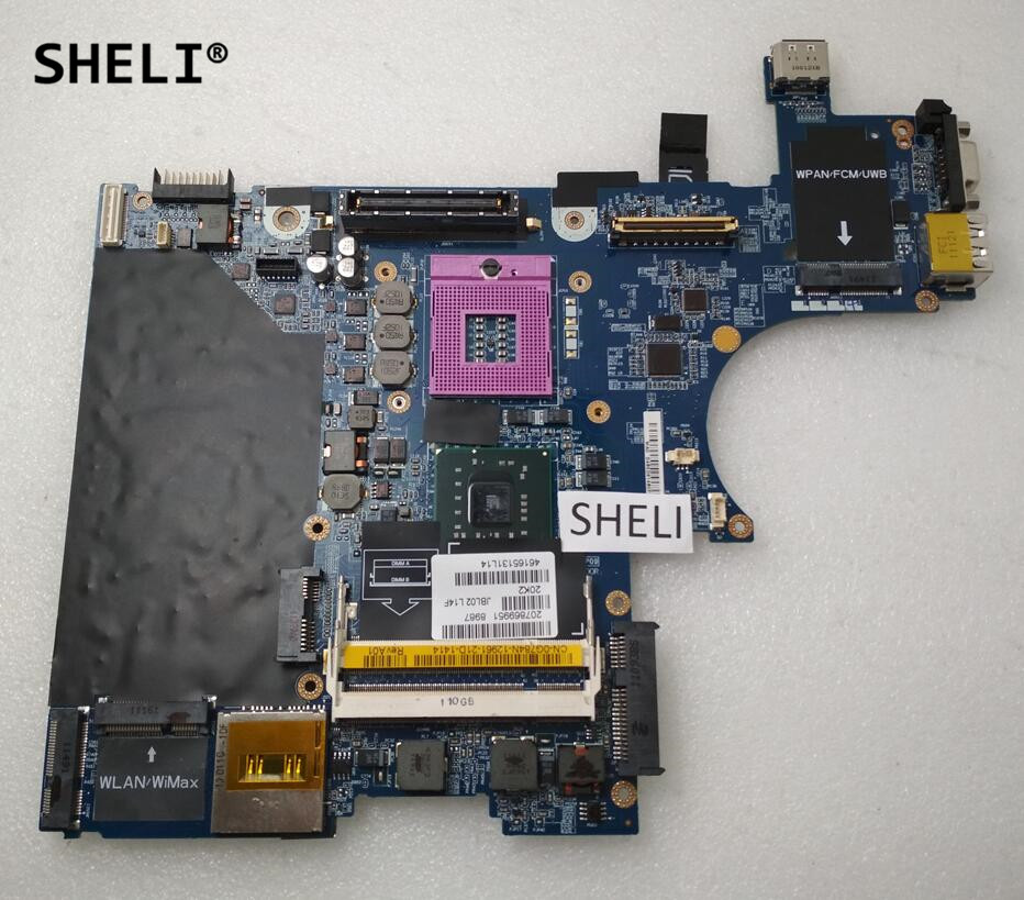 SHELI For Dell E6400 Laptop Motherboard LA-3805P CN-0G784N G784N CN-0J470N J470N