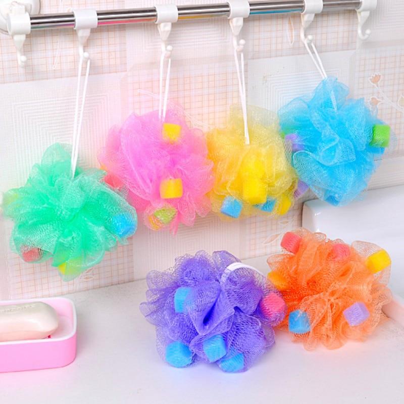 1pcs New Color bath ball bathroom bath sponge rubbing towel lovely modelling shower bath flowers/bath brush Free shipping