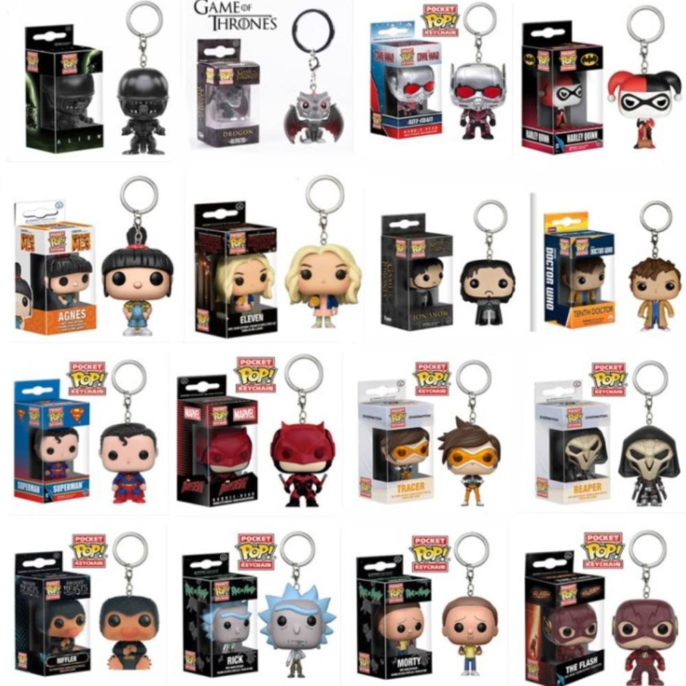 FUNKO POP Keychain Star Wars Superman Key Chain Marvel Jon Sniff Superman Lightning Chivalrous Avenger Alliance Rick And Morty цена