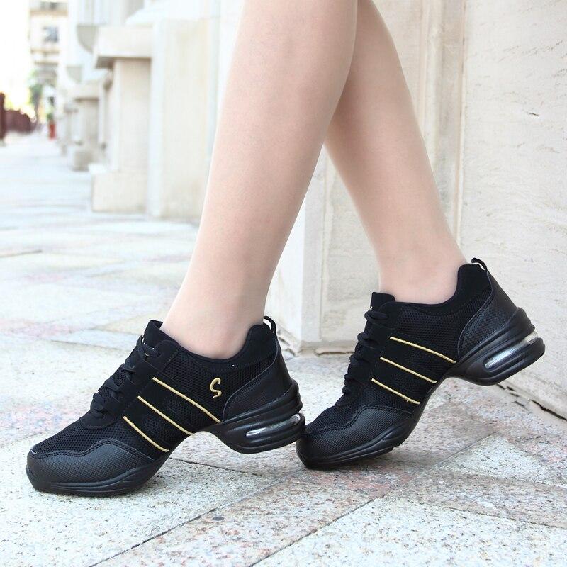 Women Soft Outsole Breath Dance Shoes Jazz Dancing Shoe Female Woman Air Cushion Sneaker Shoes For Dance Ballroom Dance Tango