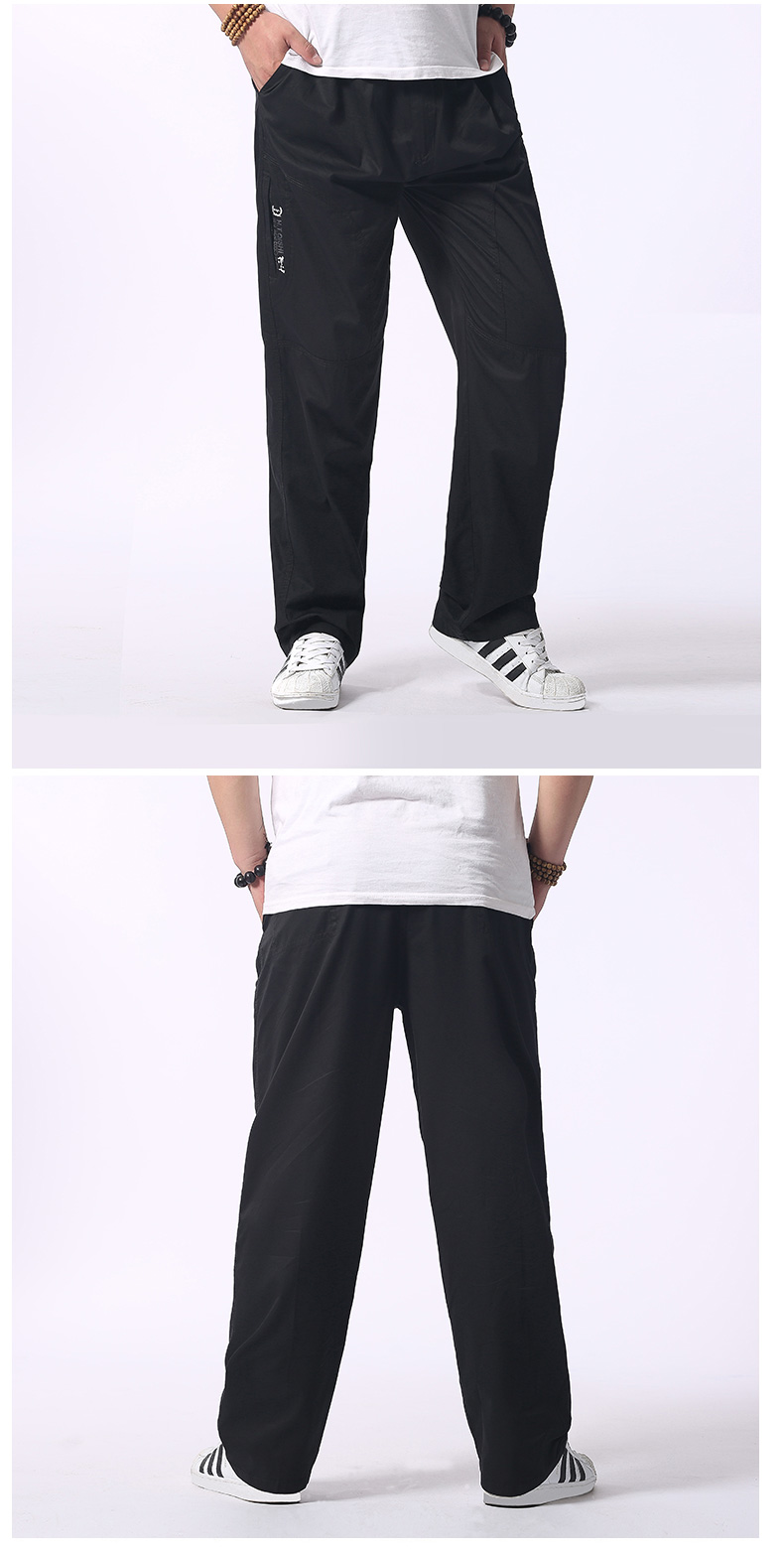 Man Loose Fitting Cargo Pants Yellow Black Gray Khaki  Overall For Mens Cotton Comfort Trousers Elastic Waist Pant American Apparel (13)