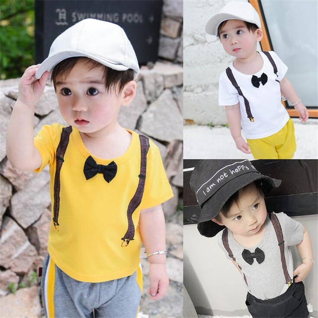 f9e52dca0 2018 New Arrivals Baby Boys Cotton T shirts Children Printed Tops T ...