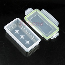 1PC 18650 Transparent Clear Battery Case Holder Storage Waterproof Box New Free shipping