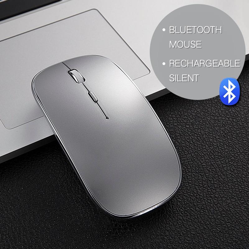Nuovo Silenzioso Mouse Bluetooth per Macbook Mac Hp Asus Acer Lenovo Wireless Mouse 1600 DPI Ottico Uomini Gaming Mouse Ricaricabile topi