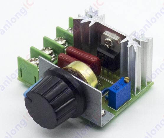 Free Shipping AC 220 V 2000 W SCR Voltage Regulator Dimming Dimmers Speed Thermostat Controller free delivery 109 s072ul 18 16 220 v w 120 38 mm aluminum frame ac fan