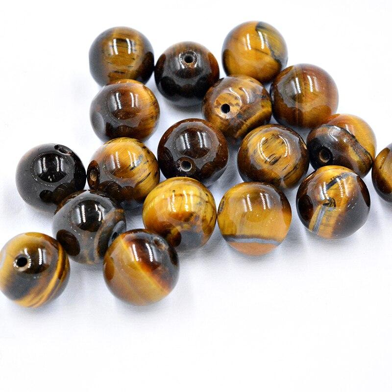 FLTMRH натуральный камень коричневого цвета Золотой Тигровый глаз, Агаты нитка круглых бусин выбрать размер для ювелирных изделий|Бусины|   | АлиЭкспресс