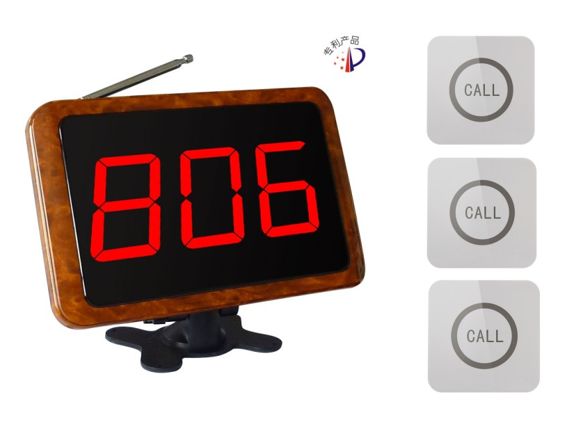 Free shipping! Waiter service calling system, wood screen display receiver, waterproof touch call buttons, cafe wireless paperFree shipping! Waiter service calling system, wood screen display receiver, waterproof touch call buttons, cafe wireless paper