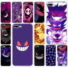 купить Pokemons Go Gengar Sinister Soft TPU Silicone Cover Case For Apple iPhone5 5s se 6 6s 7 8 plus x xr xs max coque по цене 59.4 рублей