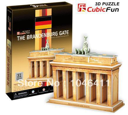 The Brandenburg Gate CubicFun 3D educational puzzle Paper & EPS Model Papercraft Home Adornment for christmas gift