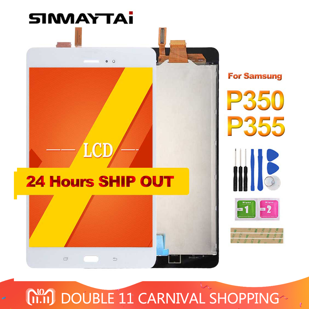 8 P350 LCD For Samsung Galaxy Tab A SM-P350 P350 SM-P355 P355 LCD Display Matrix + Touch Screen Digitizer Full Assembly new 8 for samsung galaxy tab a p350 lcd display with touch screen digitizer sensors full assembly panel lcd combo replacement