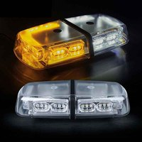 Gen 3 White & Amber Yellow 36 LED 18 Watts High Intensity Law Enforcement Emergency Hazard Warning Flash LED Mini Bar Strobe Lig