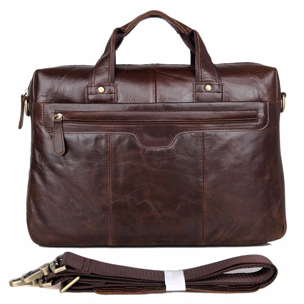 High Quality Vintage 100% Genuine Leather JMD Men Handbags Briefcase Portfolio Laptop Bag Messenger Bag 7075LC