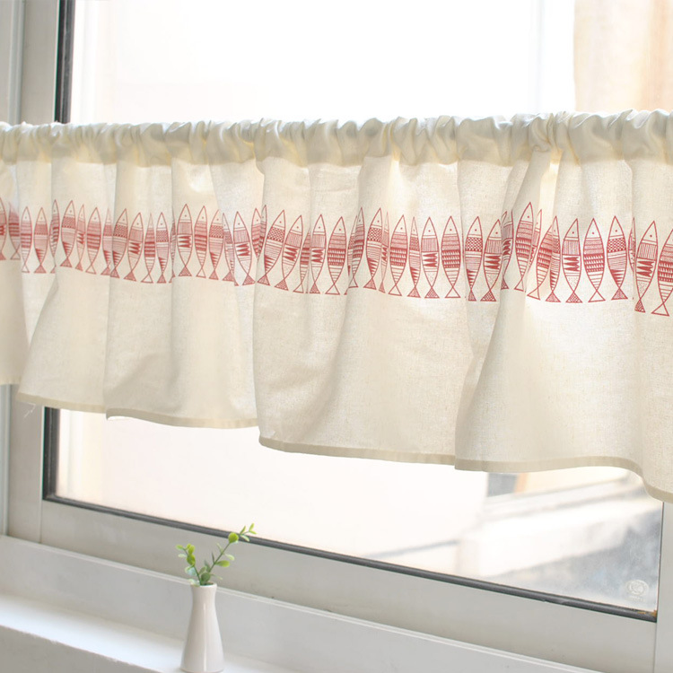 Japanese Style Half Curtain Coffee Curtain Cotton Short Curtain Windows  Small Curtain Factory Direct(