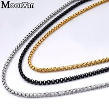 Ожерелье из нержавеющей стали для мужчин, ювелирная коробка, цепочка, ожерелье s, женские модные ювелирные изделия, аксессуары, вечерние, подарок