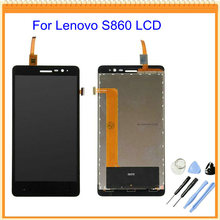 100% New LCD for Lenovo S860 LCD Screen Display with Touch Screen Digitizer Assembly Black + Opening Tools Free Shipping