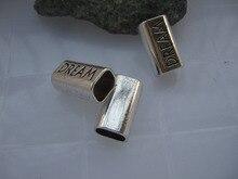 Ювелирных фитинги 10 шт. старинное серебро бар трубка мечта подвески слайдер проставки для 10 * 7.5 мм солодки кожаный шнур