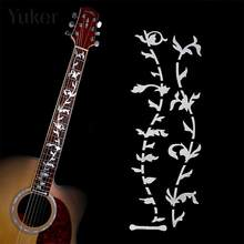 Yuker Electric Acoustic Guitar Stickers Bass Inlay Decal Ultra Thin Fretboard Sticker For Guitar Accessories(China)