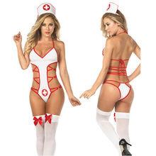 8ec45f04f ازياء ممرضة تأثيري إغراء الاباحية المثيرة مثير الملابس الداخلية الساخنة  النساء تيدي الملابس الداخلية Babydoll Lenceria مثير المل.