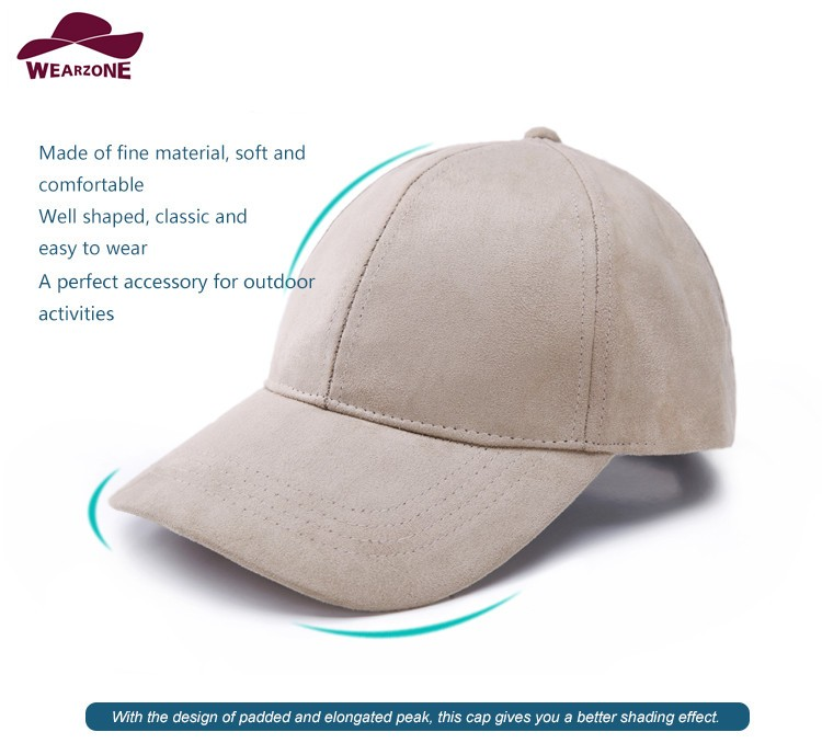 WEARZONE Unisex Soft Suede Baseball Cap Casual Solid Sports Hat Adjustable Breathable Dad Hats for Women Men 4