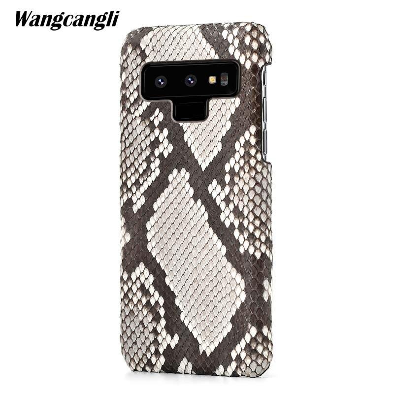 En cuir python cas de couverture de peau de couverture arrière Pour Samsung Note 9 python peau haut de gamme personnalisé cas de téléphone Pour samsung a3 a5 a7 2017