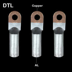 DTL 185 DTL 240 DTL 300 przewód zasilający Lug miedzi aluminium CU AL bimetaliczny podłączenia tuleja rurowa wspólne złącze zaciskane|Zaciski|Majsterkowanie -