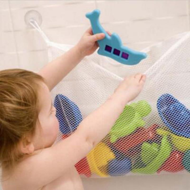 Creative Baby Toy Mesh Storage Bag Bath Bathtub Doll Organizer Suction Bathroom Stuff Net Storage Bag Y13