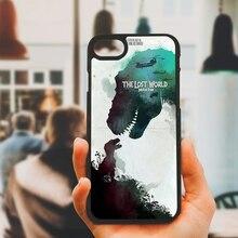 Jurassic Park Dinosaur World Phone Case Black Shell Pc Hard Cover Iphone 8 7 6 6s Plus X 5s 5 Se