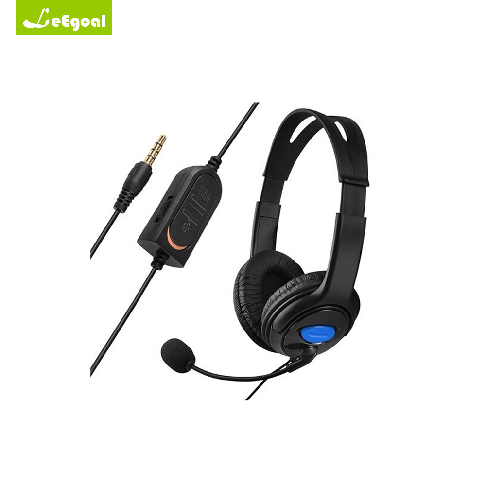Leegoal Wired Gaming Headset Computer Stereo Gaming Headphones with Microphone for PS4 PlayStation Headset Gamer PC Gamers 2017 rock y10 stereo headphone earphone microphone stereo bass wired headset for music computer game with mic