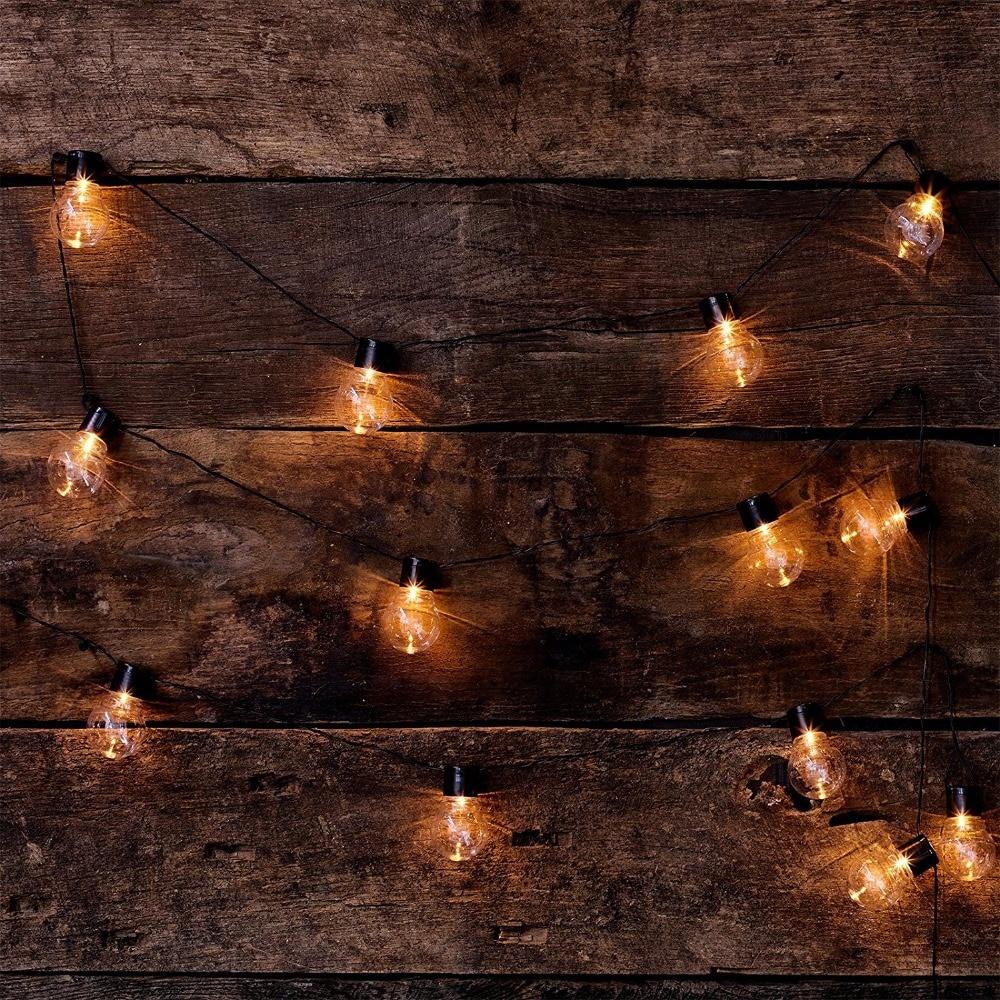 Novelty 20 LED G45 Globe Connectable Festoon Party Ball String Lamps Led Christmas Lights Fairy Wedding Garden Pendant Garland