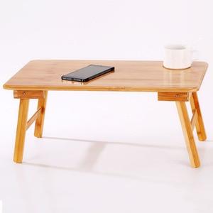 Image 3 - Katlanabilir Taşınabilir Bambu bilgisayar standı Dizüstü Bilgisayar Masası Dizüstü Bilgisayar Masası dizüstü bilgisayar masası Yatak çekyat Tepsi Çalışma Masaları