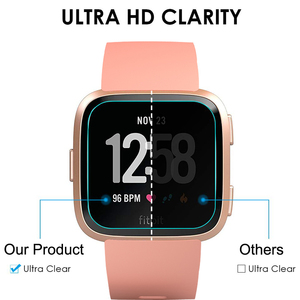 Image 5 - 1/2 PCS HD Tempered Screen Glass Protector Film For Fitbit Versa Smart watch Accessories 9H 2.5D Premium Screen Protector