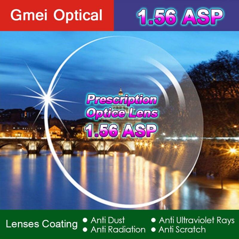 Hohe Qualität Strahlung Schutz Index 1,56 Klar Optische Einzigen Vision Objektiv HMC, EMI Asphärische Anti-Uv Rezept Linsen, 2 stücke