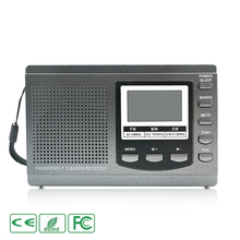 Grey Shortwave FM AM SW MW Radio Digital Full Band Stereo Receiver Demodulator External Antenna DC Power