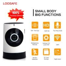 LOOSAFE Panorámica de ojo de Pez Lente de La Cámara IP Inalámbrica WIFI Mini Cámara de Vigilancia de 180 Grados Ocultos IP Webcam Wi-Fi P2P 960 p Cam