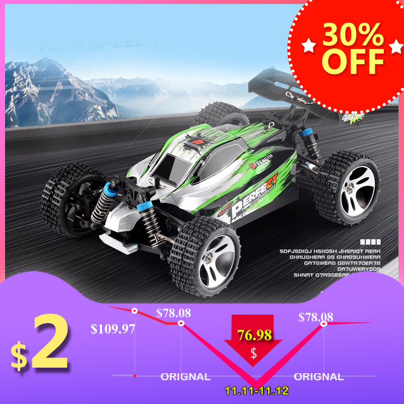Remote control car WLtoys A959 2.4G 1/18 ratio remote control off-road racing high-speed stunt SUV toy gift boy RC mini car part