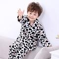 2016 Autumn boys pyjamas pijama infantil Homewear Soft and Warm Childrens Flannel Clothes Sets Boys Long Sleeve Homewear