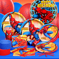 Patrolling Spider man Party Cartoon Paper Flag Birthday my little pawky avengers poni Captain America kindergarten game tools