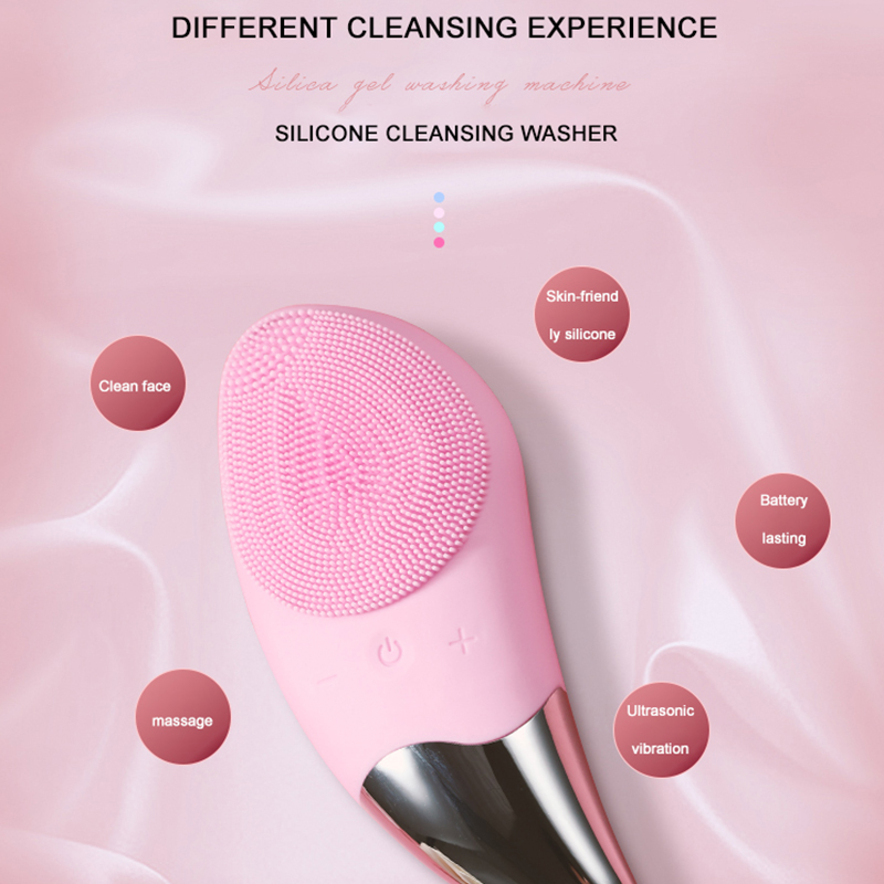 Electric Cleanser USB Charging Strong Driving Force Cortex Without Injury Three Button Silicone Electric Cleanser in Powered Facial Cleansing Devices from Home Appliances