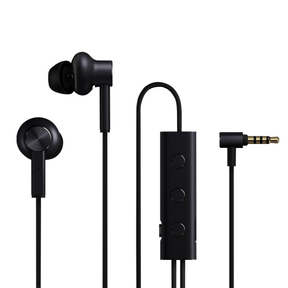 LESHP Portable Active Noise Canceling Headphones Mi ANC In-Ear Hybrid Earphones Line Control For Mobile Phone 1more e1004 dual driver anc noise canceling in ear headphones lightning
