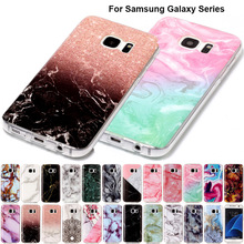 B02 Fashion Marble Soft Tpu Skin Shell Case For Samsung Galaxy S3 III S4 S5 S6 S7 Edge S8 Plus Silicone Stone Texture Back Cover