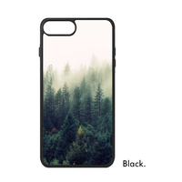Forest Mountain Quiet Natural Fresh Green Tree Botany Fog Photo Image Phone Case For IPhone X