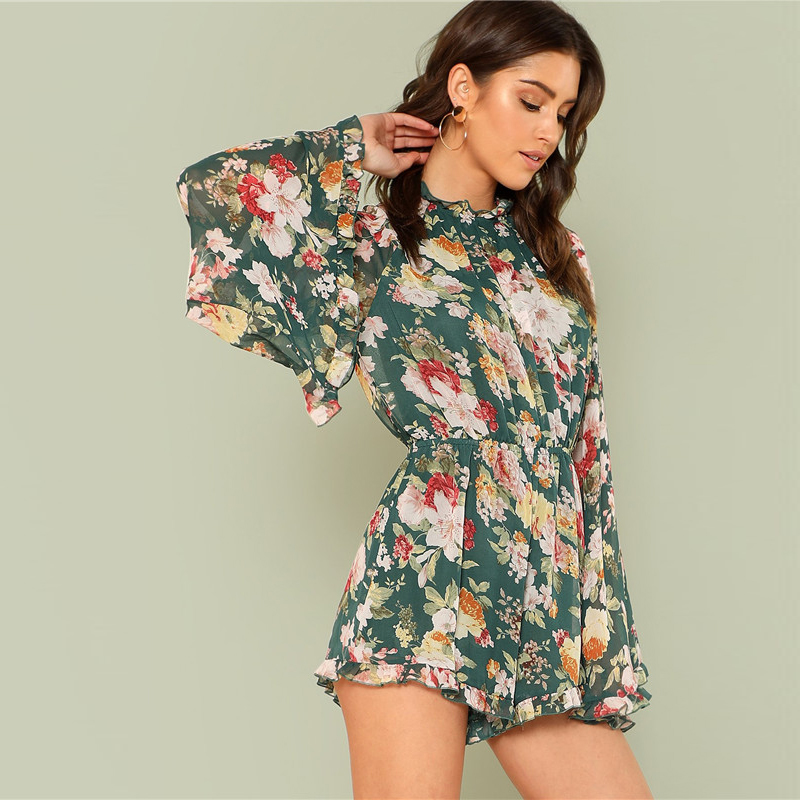 5c734c0382d SHEIN Summer Beach Vacation 2018 Women Backless Floral Playsuit ...