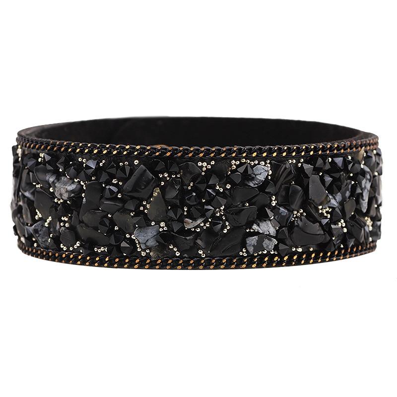 2017 New Fashion High Quality Aesthetic Classic Leather Bracelets Popular Manual Stone Mosaic Friendship Charm Women Bracelets!
