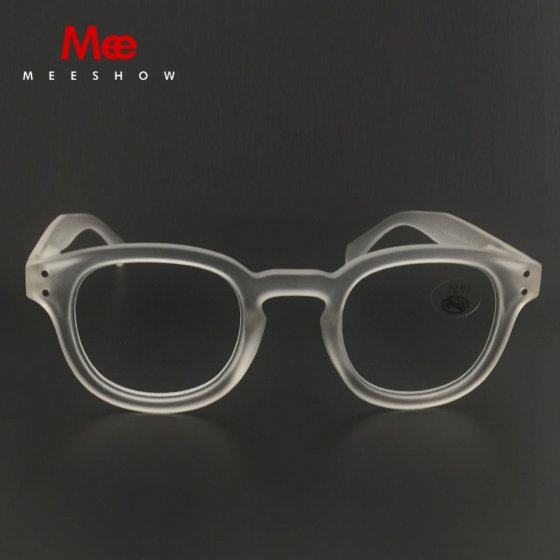 7f87ba3481c Meeshow Transparent Reading glasses Retro Europe style quality men women eye  glasses with flex clear lens Pouch included1513-in Reading Glasses from  Apparel ...