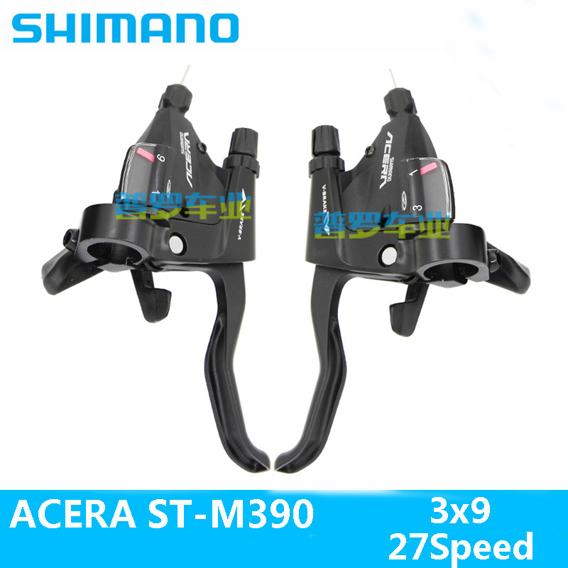 SHIMANO ACERA 3X9 27 Mountain bike ST-390 DIP drive Bicycle brake Handle switch MTB Bicycle derailleur Free Shipping  shimano acera mountain bike st ef65 shift brake lever 3 8 speed 24s mtb bicycle bike conjoined dip bicycle derailleur
