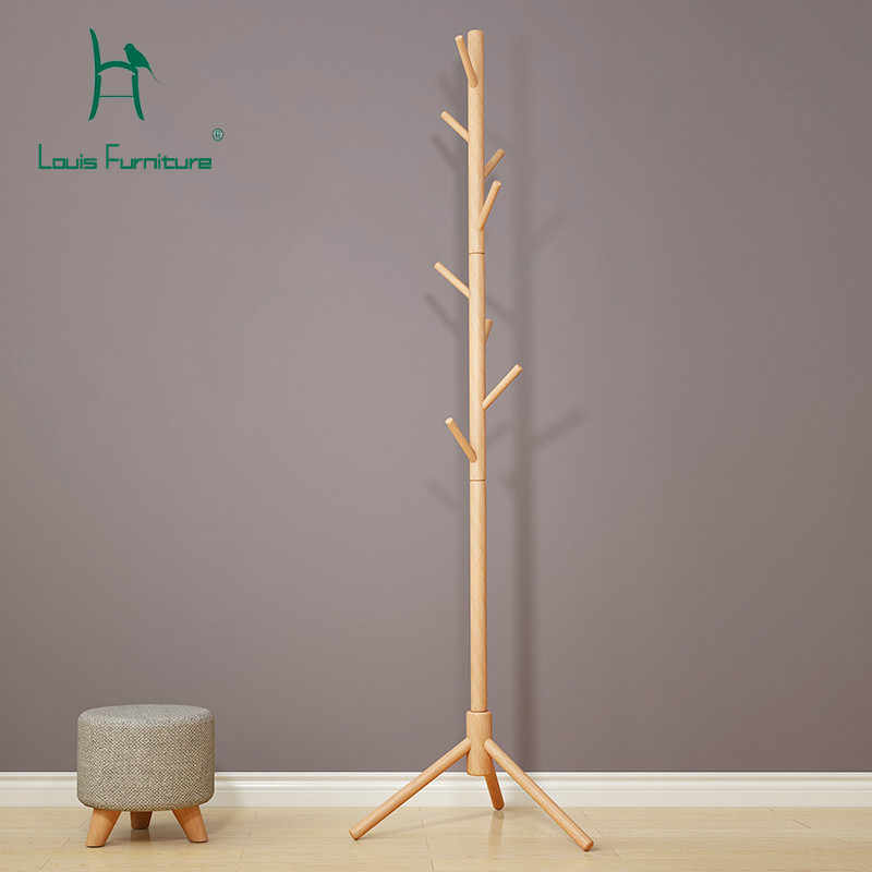 Louis Fashion Coat Racks Simple Landing Bedroom Solid Wood Multifunctional Household Minimalism
