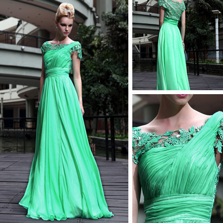 2019 Best Hot Sellling Custom Made Applique Beaded Long Chiffon Prom Gowns Green Formal New Fashion Mother Of The Bride Dresses