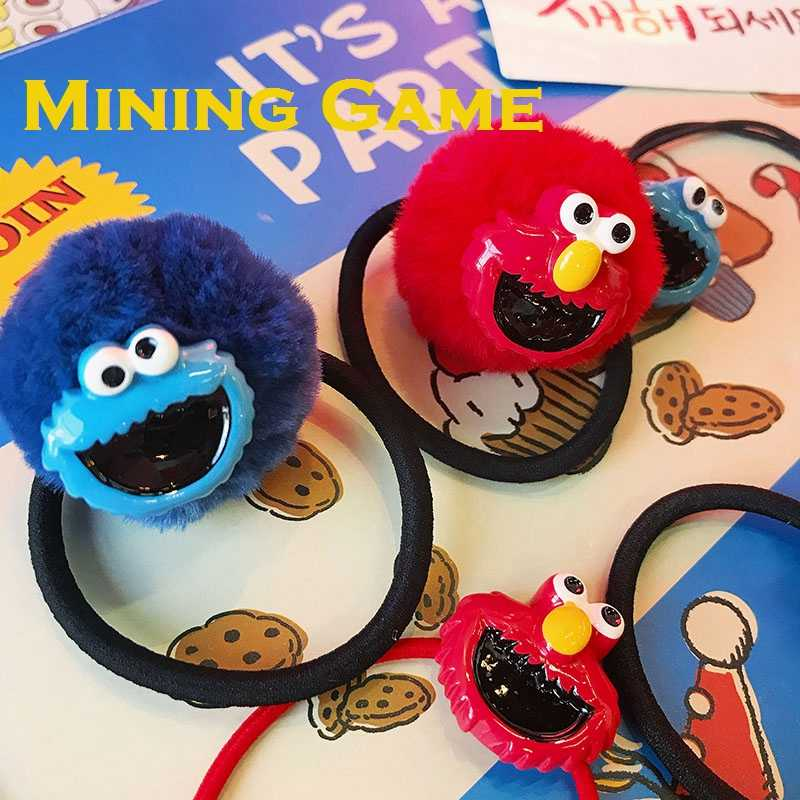 Big Eye Sesame Street ผมยางวงแหวน Hairring อุปกรณ์เสริมของเล่น Party Dress Up อุปกรณ์ตกแต่งเด็ก Gril ของขวัญ
