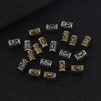 New 24 A Set Of Pirates Runees Beard Hair Beads TIWAZ TYR Sun Gods Pendant
