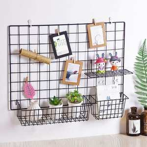 Shelves Hanging-Rack Iron-Frame Wall-Shelf Mesh-Wire Wall-Decoration Sundries-Storage